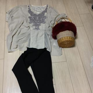 ココ(Coco)の【美品】豪華なコード刺繍☆チュニック☆ドルマンスリーブ(チュニック)