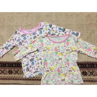 しまむら - 【送料無料】キッズ 女児向け インナーウェア 七分袖 95 2枚セット