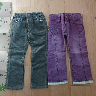ブーフーウー(BOOFOOWOO)の長ズボン2セット  サイズ100 べべ ブーフーウー(パンツ/スパッツ)