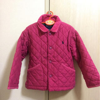 ポロラルフローレン(POLO RALPH LAUREN)の女の子110程度本物ラルフローレンのピンクの中綿入りジャケットコート(ジャケット/上着)