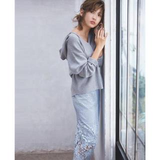 ココディール(COCO DEAL)の【紗栄子さん着用】美品♡ココディール♡総針Vネックニットパーカー(ニット/セーター)