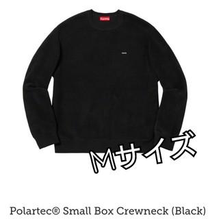 シュプリーム(Supreme)の黒 M Supreme Polartec Small Box Crewneck(スウェット)