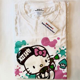 サンリオ(サンリオ)のスプラトゥーン×サンリオ コラボ Tシャツ ハローキティ Lサイズ(Tシャツ(半袖/袖なし))