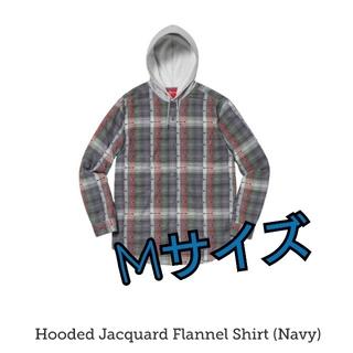 シュプリーム(Supreme)のSupreme Hooded Jacquard FlannelShirtNavy(シャツ)