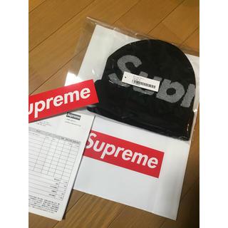 シュプリーム(Supreme)の2018FW新品未使用Supreme Big Logo Beanie 黒(ニット帽/ビーニー)