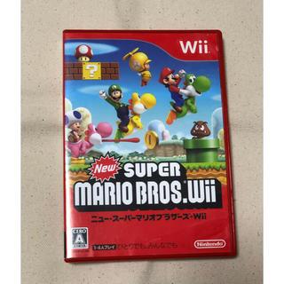ウィー(Wii)のWii newスーパーマリオブラザース ソフト(家庭用ゲームソフト)