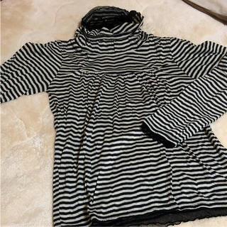 グローブ(grove)のボーダーレースTシャツ レディース(Tシャツ(長袖/七分))