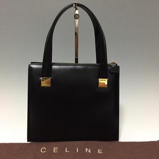 セリーヌ(celine)のCELINE オールレザー 黒 ハンドバッグ 手提げ セリーヌ(ハンドバッグ)