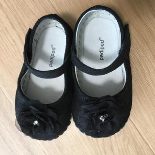 ファミリア(familiar)のpediped フォーマル シューズ 靴 黒 18-24ヶ月 13cm EU21(フォーマルシューズ)