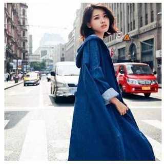 【値下げ交渉可】 デニムコート デニムジャケット ロングコート(Gジャン/デニムジャケット)