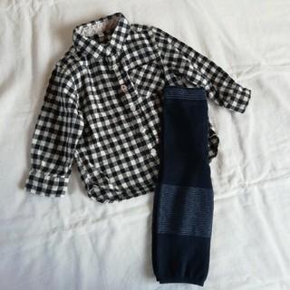 ムジルシリョウヒン(MUJI (無印良品))の無印良品 キッズ シャツ パンツ まとめ 80 90(ブラウス)