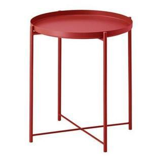 イケア(IKEA)の12月末まで特別価格【新品・送料込】便利&オシャレ◆コーヒーテーブル◆赤(コーヒーテーブル/サイドテーブル)