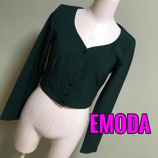 エモダ(EMODA)のEMODA♡ショート丈ノーカラー ジャケット(ノーカラージャケット)