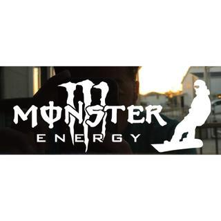 スノーボードステッカー  monster energy2枚組(車外アクセサリ)