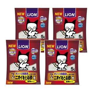ネコちゃん快適☆ニオイをとる砂 猫砂 鉱物タイプ 7歳以上猫用 5Lx4(猫)