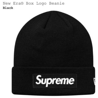 シュプリーム(Supreme)の国内正規 黒 SUPREME NEW ERA BOX LOGO BEANIE(ニット帽/ビーニー)