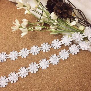 1m 艶ありタイプ マーガレット 花 ケミカルレース ブレード BK180205(各種パーツ)