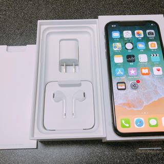アップル(Apple)の【新品】iPhone X 256GB SIMフリー(スマートフォン本体)