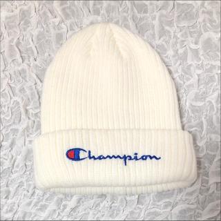チャンピオン(Champion)のChampion チャンピオン ニット帽 ホワイト(ニット帽/ビーニー)
