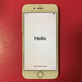 アップル(Apple)の美品!iPhone7 ゴールド 128GB!SIMロック解除済み AU(スマートフォン本体)