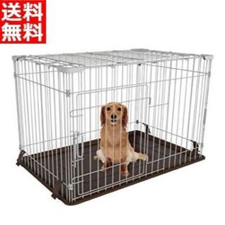 【天面付き】 ワンちゃん ネコちゃんに♪ サークルケージ 天蓋付き 新品(犬)