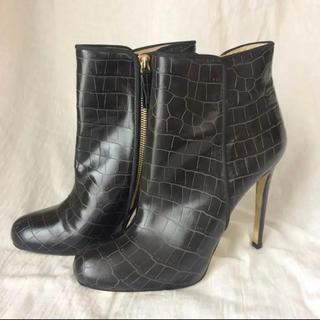 ステラマッカートニー(Stella McCartney)のステラマッカートニー ショートブーツ ピンヒール クロコ ハイブランド 高級(ブーツ)