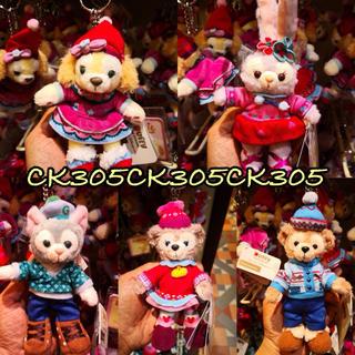 香港ディズニー☆クリスマス キーホルダー5点セット☆(キーホルダー)