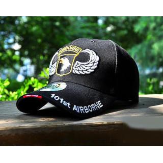 新品ブラック 101st AIRBORNE ミリタリー キャップ 帽子 サバゲー(キャップ)