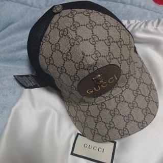 グッチ(Gucci)のGUCCI グッチ 本物 新品同様 GGスプリーム タイガー パッチ CAP(キャップ)