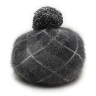 ヴィヴィアンウエストウッド(Vivienne Westwood)のヴィヴィアンウエストウッド チェック柄・ニットベレー帽(ニット帽/ビーニー)