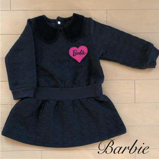 バービー(Barbie)のバービー ベロア襟付きキルティングワンピース(ワンピース)