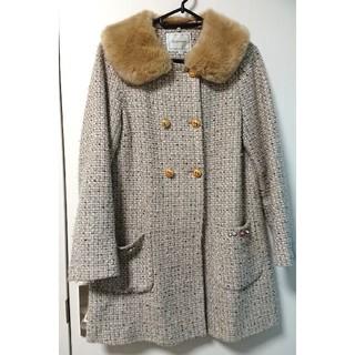 クチュールブローチ(Couture Brooch)の◇クチュールブローチ◇ツイードコート◇ファー取り外し可能◇ワールド(ロングコート)