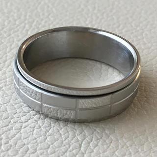 (28)チョコレートのようなシンプルリング シルバー アンティーク(リング(指輪))