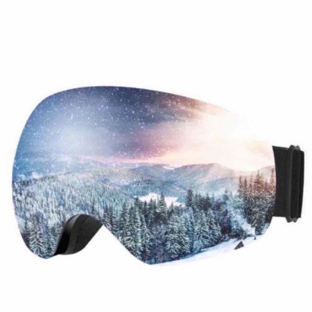 ゴーグル スキー スノボ 99%UVカット 曇り防止 男女兼用 ケース付   スポーツ/アウトドアのスノーボード(ウエア/装備)の商品写真
