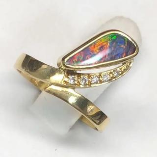 750WGブラックオパールのリング(リング(指輪))