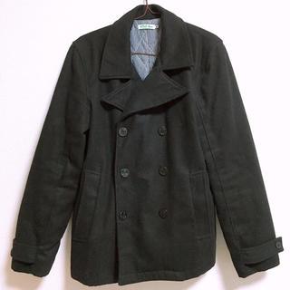 ウーム(WOmB)の送料無料 WOMB コート 黒 メンズ ピーコート Pコート M 冬物 アウター(ピーコート)