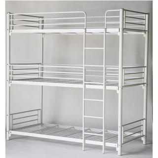 三段ベッド パイプ(ロフトベッド/システムベッド)