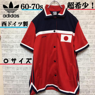アディダス(adidas)の希少!西ドイツ製60-70s Adidas オリンピック 日本国旗 シャツ★(ポロシャツ)