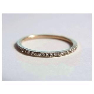 マーズMARSフルエタニティ ダイヤk10金リング指輪12号イエローゴールドYG(リング(指輪))