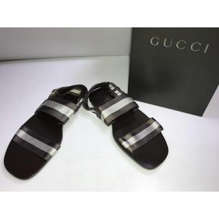 グッチ(Gucci)の新品箱付き◆グッチ◆サンダル 茶色系ブラウン 39.5D 26cm 26.5cm(サンダル)
