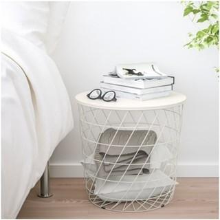 イケア(IKEA)のIKEA イケア // KVISTBRO 収納テーブル ホワイト(コーヒーテーブル/サイドテーブル)
