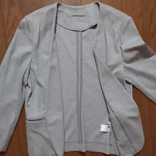 ジーユー(GU)のgu ジャケット グレー レディース L(ノーカラージャケット)