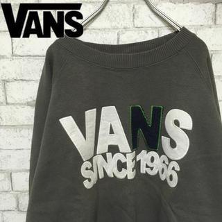 ヴァンズ(VANS)の【90s】VANS ビック刺繍入りスウェットレッドパッチ付 Mサイズ(スウェット)