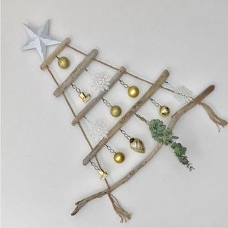 流木ツリー˚✧₊⁎壁掛けのクリスマスツリー ナチュラルインテリア ウォールアート(インテリア雑貨)