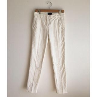 INCOTEX インコテックス  センタープレス  コットン パンツ  ホワイト