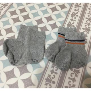ムジルシリョウヒン(MUJI (無印良品))の新品に近い♪無印良品 ベビー靴下2足セット11-13センチ(靴下/タイツ)