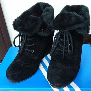 シマムラ(しまむら)の黒 2way ボア ショートブーツ(ブーツ)