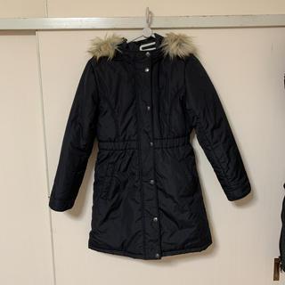 GU - GU 中綿ロング黒コート 150