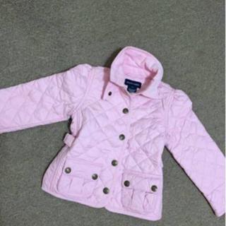 ポロラルフローレン(POLO RALPH LAUREN)の美品女の子90程度ラルフローレンのピンク中綿入りジャケットコート (ジャケット/上着)