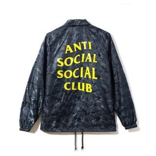 アンチ(ANTI)のanti social social club コーチジャケット M 新品(ナイロンジャケット)